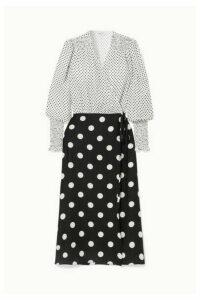 Art Dealer - Ruffled Polka-dot Silk-jacquard Wrap Dress - White