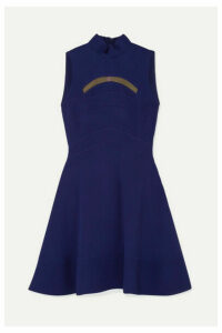 Antonio Berardi - Mesh-trimmed Paneled Cady Dress - Blue