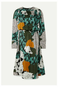 By Malene Birger - Niella Floral-print Satin Midi Dress - Green