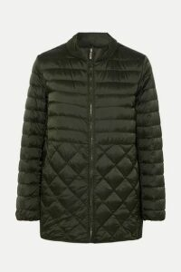 Max Mara - The Cube Hooded Belted Quilted Shell Down Coat - Gray green