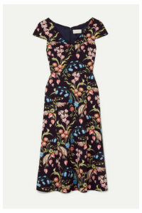 Peter Pilotto - Floral-print Cady Midi Dress - Navy