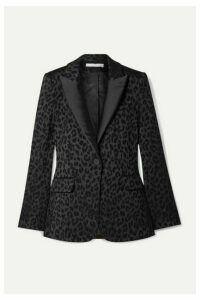Veronica Beard - Ashburn Dickey Satin-jacquard Blazer - Black