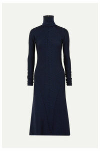 Haider Ackermann - Striped Wool Turtleneck Midi Dress - Blue