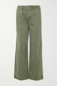 Tibi - Asymmetric Checked Woven Midi Skirt - White