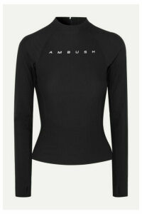 AMBUSH® - Printed Stretch-scuba Top - Black