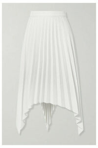 Acne Studios - Ilsie Asymmetric Pleated Wool-blend Midi Skirt - Off-white