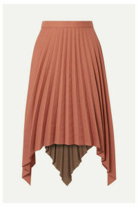 Acne Studios - Islie Asymmetric Pleated Woven Midi Skirt - Brick