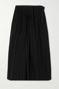 Acne Studios - Islie Asymmetric Pleated Woven Midi Skirt - Brick