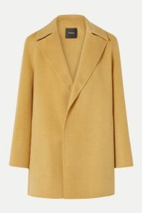 Theory - Wool And Cashmere-blend Coat - Mustard
