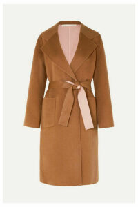 Veronica Beard - Lyonia Belted Two-tone Wool And Cashmere-blend Coat - Tan