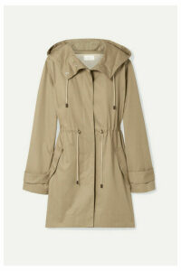 The Row - Haze Hooded Cotton-gabardine Coat - Beige