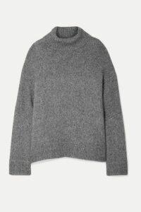 Co - Oversized Alpaca And Pima Cotton-blend Turtleneck Sweater - Gray