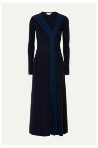 Gabriela Hearst - Boris Paneled Wool-blend Maxi Dress - Navy