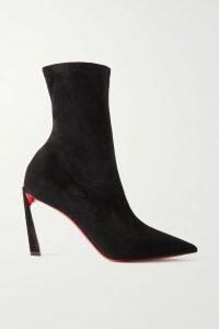 Etro - Metallic Corded Lace And Floral-print Crepe Mini Dress - Black