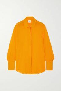 Isabel Marant - Celini Ruched Leather Mini Dress - Burgundy