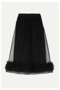 Molly Goddard - Leonie Ruffled Tulle Midi Skirt - Black