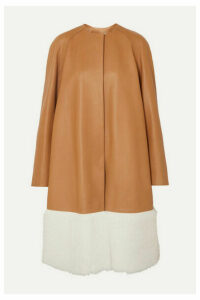 Loewe - Shearling-paneled Leather Coat - Camel