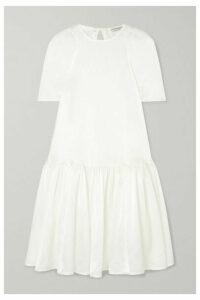 Cecilie Bahnsen - Anna Bella Tiered Silk-satin Dress - White