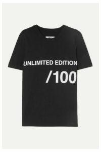 MM6 Maison Margiela - Printed Cotton-jersey T-shirt - Black