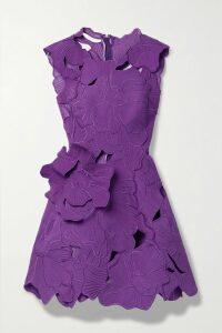 Alessandra Rich - Button-embellished Wool-blend Tweed Mini Skirt - Black