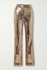 Johanna Ortiz - Cuentos Y Relatos Ruffled Satin-jacquard Midi Dress - Red