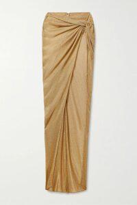 STAUD - Cav Two-tone Linen Shirt - Burgundy