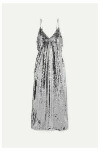 Stella McCartney - Sequined Tulle Gown - Silver