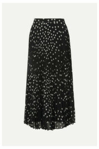 Stella McCartney - Polka-dot Plissé-georgette Midi Skirt - Black