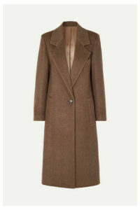 Joseph - Captain Herringbone Wool-blend Coat - Brown
