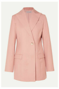 ANNA QUAN - Sienna Double-breasted Twill Blazer - Blush