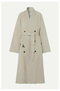 Balenciaga - Judo Oversized Cotton-twill Trench Coat - Beige