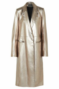 Ann Demeulemeester - Metallic Leather Coat - Matte gold