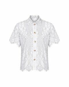 Yumi Curves Floral Lace Shirt