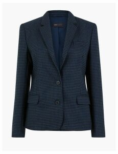 M&S Collection Checked Single Breasted Blazer