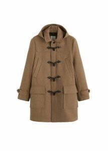 Detachable hood duffle coat