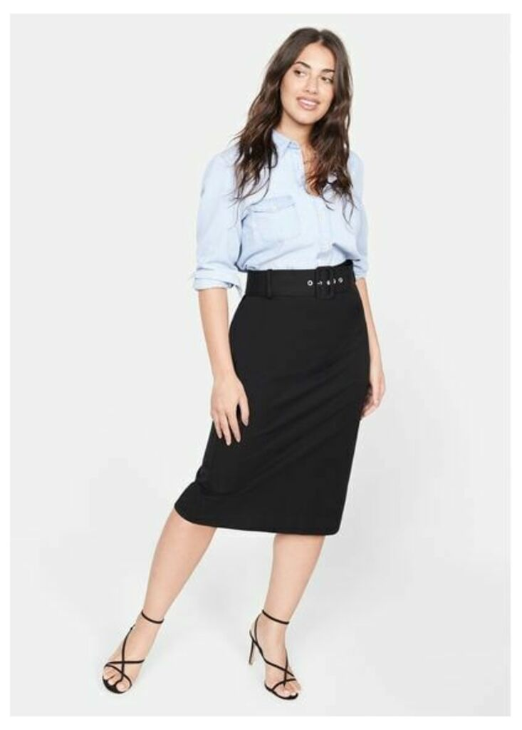 Pencil belt skirt