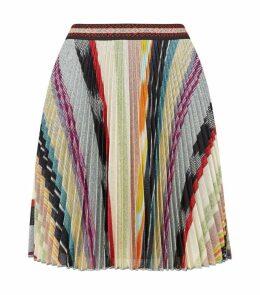 Metallic Knit Mini Skirt