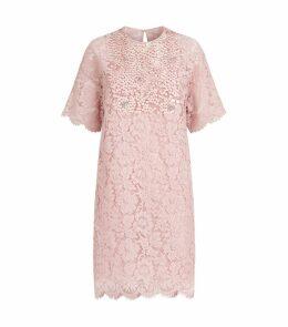Floral Lace Mini Dress