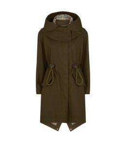 Hooded Gabardine Parka