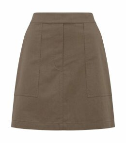 Stitched Cargo A-Line Skirt
