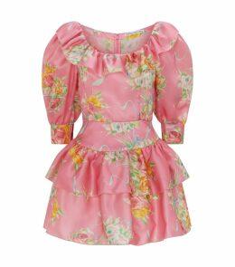 Organza Floral Mini Dress