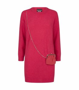 Sweater Dress with Bag Detail