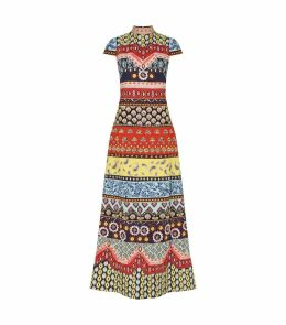 Embellished Patchwork Arwen Maxi Dress