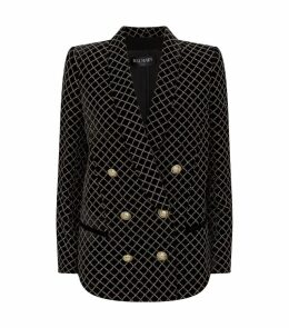 Glitter-Embellished Double-Breasted Blazer
