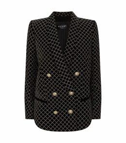 Glitter-Embellished Double-Breasted Blazer