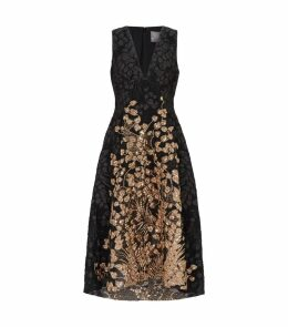 Embroidered Vine Dress
