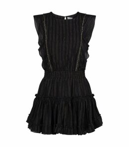Cielle Metallic Stripe Mini Dress