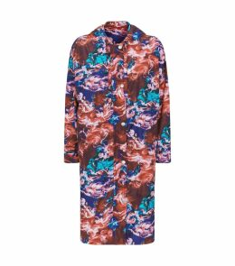Abstract Print Raincoat