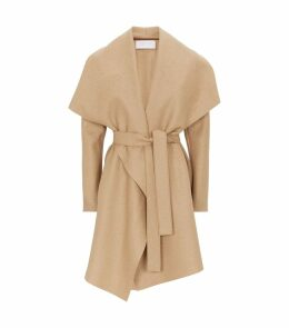 Pressed Wool Belted Coat