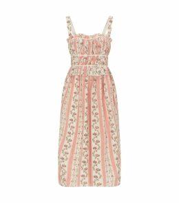 Silk Ruched Palmira Dress